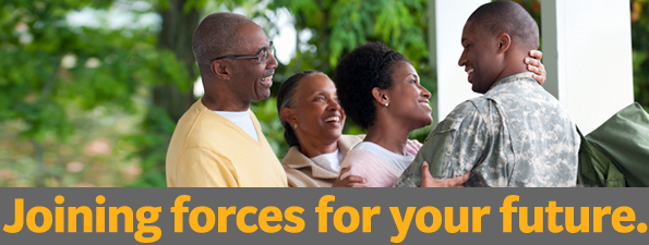 Joining forces for your future. Start Strong Veterans Event